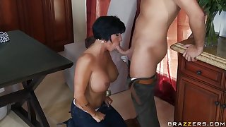 Cock-smitten MILF Shay Fox is slammed at the end of one's tether Keiran Lee