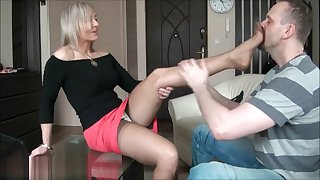 Ala seduces her man with nylons then gives headquarter job.