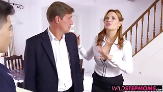 Horn-mad MILFand hot stepdaughter fuck the house painter