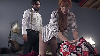 Strigose mendicant ties up and fucks red haired submissive Lauren Phillips