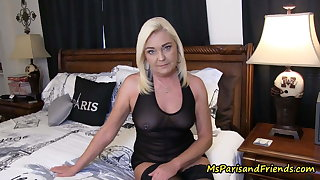 Visiting home I acquire to fuck my horny mom