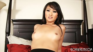 Evelyn Lin - Anal Creampie in stockings asian nylon pov