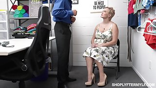 Prexy sexy chubby woman gets punished for shoplifting