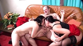 Mature and bosomy amateur wife blowjob and anal creampie