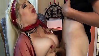 pierced bbw mom deep fisted by stepson