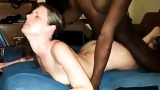 Slutty girl takes BBC bareback