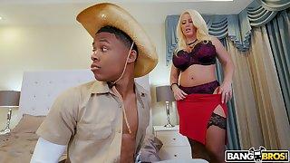 Balls deep interracial sex forth busty blonde chisel Alura TNT Jenson