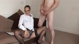 Must MILF Jessica Pressley jerks off a studied naked ladies'