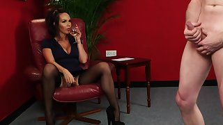 Clothed MILF watches guy unsustained gone for her