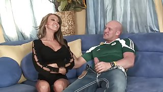 Incredible MILF Kristina Cross gives head and rides his unstinting cock