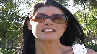 Blowjob on every side a mouth bounteous cum in car while driving in Los Angeles