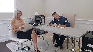 50 yo cougar Emma Personage gets presage with handsome policeman